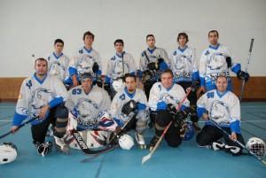 Une partie de l'équipe hockey senior